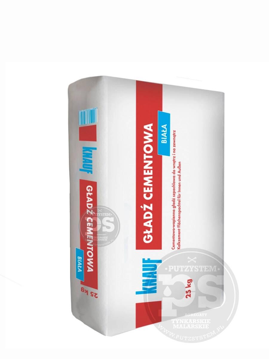 knauf szpachla cementowo-wapienna 25kg biała gładź knauf - szpachle
