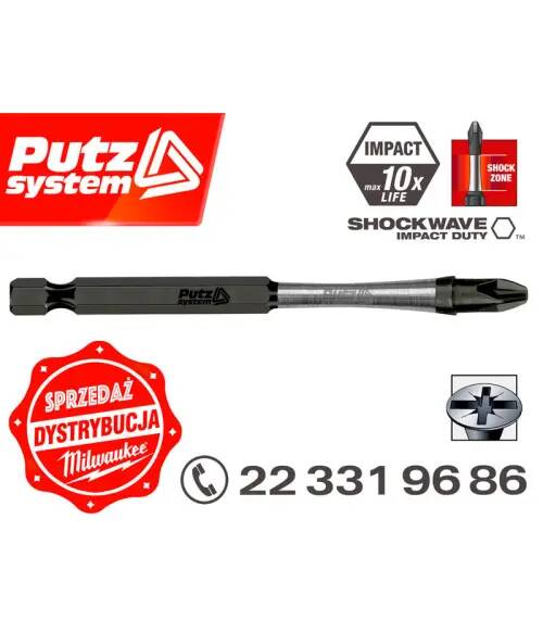 Milwaukee BIT UDAROWY PZ 2 90 mm SHOCKWAVE MILWAUKEE bosch